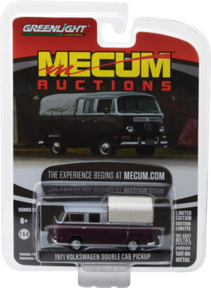 1971 Volkswagen Double Cab Pickup - Burgundy and Silver (Houston 2015) - Mecum Auctions Collector Cars Series 2 at diecastdepot