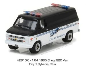 1985 Chevrolet G20 Van -City of Sylvania, Ohio - HOT PURSUIT SERIES 24 at diecastdepot