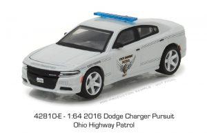 2016 Dodge Charger Pursuit -Ohio Highway Patrol - HOT PURSUIT SERIES 24 at diecastdepot