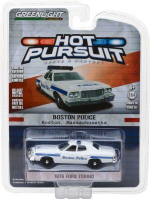 1976 Ford Torino Boston Massachusetts Police- Hot Pursuit Series 26 at diecastdepot