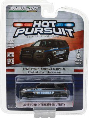 2016 Ford Interceptor Utility - Tombstone, Arizona Marshal- Hot Pursuit Series 26 at diecastdepot