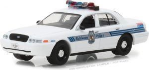 2008 Ford Crown Victoria Police Interceptor - Baltimore, Maryland Police Department -Hot Pursuit Series 27 at diecastdepot
