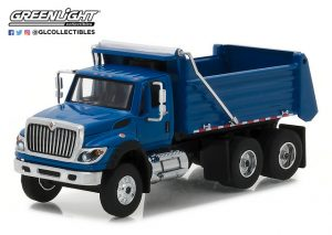 2017 International WorkStar Construction Dump Truck - Blue at diecastdepot