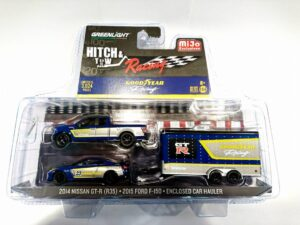 2014 Nissan GT-R(R35)/ 2015 Ford F-150/ Enclosed Car Hauler (Good Year)- Hitch & Tow at diecastdepot