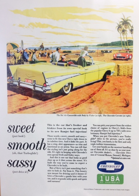 1957 CHEVY BEL AIR CONVERTIBLE -SWEET SMOOTH SASSY at diecastdepot