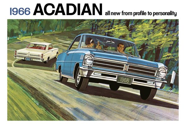 "1966 PONTIAC ACADIAN ""BROCHURE COVER"" POSTER at diecastdepot"