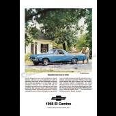 "1968 El Camino SS396  "" Beautiful New Way To Work"" Poster Ad at diecastdepot"