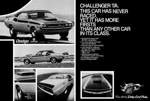 1970 Dodge Challenger T/A- Poster at diecastdepot