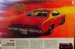 1970 Plymouth Valiant Duster Coupe Original Ad Poster at diecastdepot