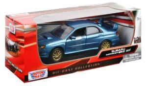 Subaru Impreza WRX STI - blue at diecastdepot