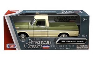 1969 Ford F100 Pick up Truck - two tone - Green and Cream at diecastdepot