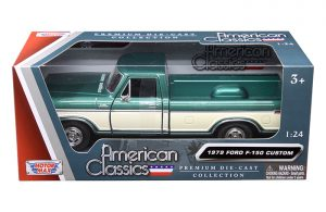 1979 FORD F150 PICK UP TRUCK CUSTOM - GREEN WITH CREAM/WHITE at diecastdepot