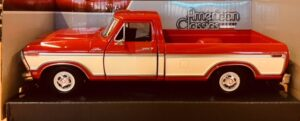 1979 Ford F150 Custom Pick Up Truck - Red and Cream/white at diecastdepot