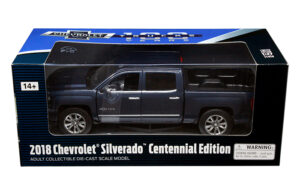 2018 Chevrolet Silverado Centennial Edition - Dark Blue at diecastdepot