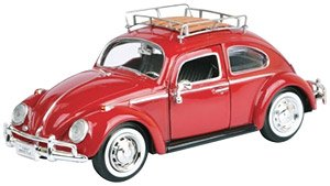 1966 Volkawagen Classic Beetle Red w/Luggage Rack at diecastdepot