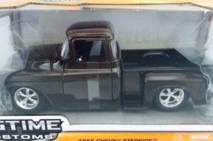 1955 Chevy Stepside Pick Up Truck - BTK Brown at diecastdepot