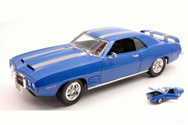 New 1969 Pontiac Firebird Trans Am Blue 1//18 Diecast Model Car by Road Signature