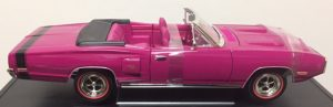 1970 Dodge Coronet R/T- Fuscia with black stripe at diecastdepot