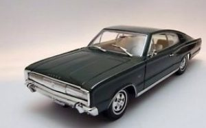 1966 Dodge Charger- Black at diecastdepot