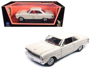 1964 FORD FALCON- WHITE at diecastdepot