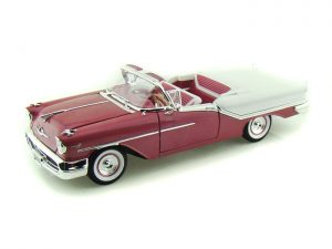 1957 Oldsmobile Super 88 Purple Convertible at diecastdepot
