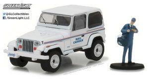 1991 Jeep Wrangler YJ USPS with USPS Mail Carrier - The Hobby Shop Series 1 at diecastdepot