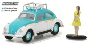 Classic Volkswagen Beetle with Roof Rack and Woman in Dress - The Hobby Shop Series 1 at diecastdepot