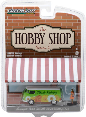 1976 Volkswagen Type 2 Panel Van with Woman in Dress- The Hobby Shop Series 2 at diecastdepot