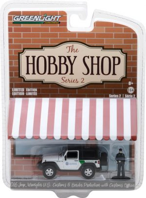 2016 Jeep Wrangler with Customs Officer- US Customs and Border Protection- The Hobby Shop Series 2 at diecastdepot