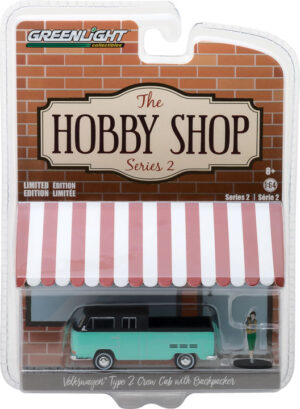 "Volkswagen Type 2 Crew Cab Pickup ""Doka"" with Backpacker-The Hobby Shop Series 2 at diecastdepot"