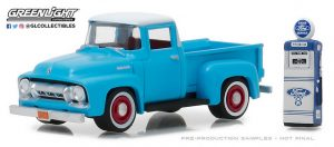 1954 Ford F-100 with Vintage Ford Motor Company Gas Pump at diecastdepot
