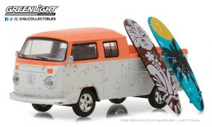 "Volkswagen Type 2 Crew Cab Pickup ""Doka"" with Surfboards at diecastdepot"