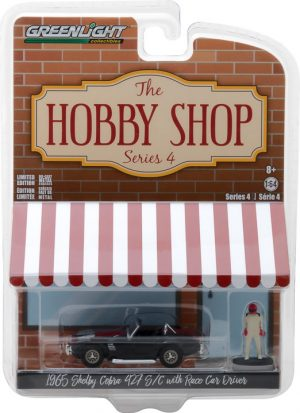 1965 Shelby Cobra with Race Car Driver - The Hobby Shop Series 4 - at diecastdepot