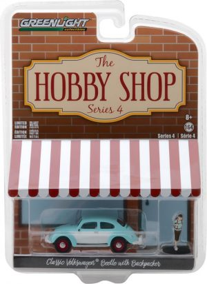Classic Volkswagen Beetle with Backpacker -The Hobby Shop Series 4 at diecastdepot