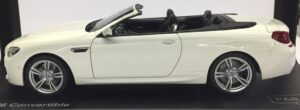 BMW F12 M6 CABRIO - WHITE at diecastdepot