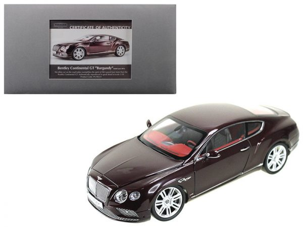 2016 Bentley Continental GT- Burgundy at diecastdepot