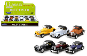 Old Timer Pull Back Action Cars Assortment - 1:38 Scale at diecastdepot