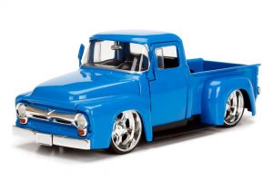 1956 Ford F100 Pickup Truck - Blue - Just Trucks at diecastdepot