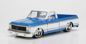 1972 Chevy Cheyenne- BLUE & WHITE at diecastdepot