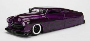 1951 Mercury - Big Time Kustoms - Metallic Purple with flames at diecastdepot
