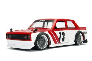1973 Datsun 510 Widebody - Red/White - JDM Tuners at diecastdepot