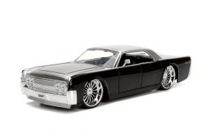 1963 LINCOLN CONTINENTAL - Black/Silver at diecastdepot