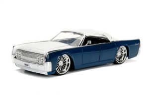 1963 LINCOLN CONTINENTAL - Blue/Silver at diecastdepot