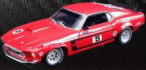 1969 Ford Boss 302 Trans Am Mustang- #9 Coca Cola Allan Moffat at diecastdepot