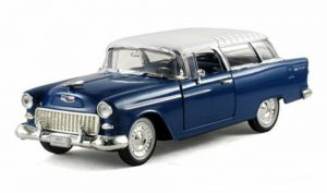 1955 Chevy Nomad Hard Top- Blue at diecastdepot