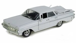 1959 Chevy Impala Hard Top- White at diecastdepot