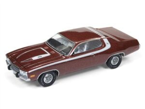 1974 Plymouth Road Runner (Burnished Red Poly with White Stripes) at diecastdepot