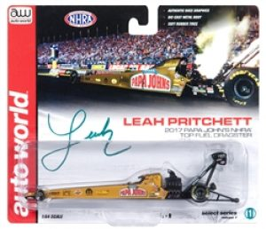 2017 L Pritchett Top Fuel Dragster - Papa John - by Autoworld at diecastdepot