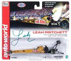 2017 L Pritchett Top Fuel Dragster - Papa John - by Autoworld at diecastdepot