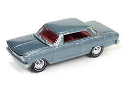 1965 Chevrolet Nova (Glacier Gray Poly) at diecastdepot